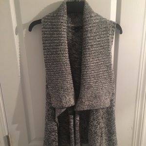 Gray sweater wrap
